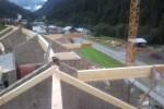 Komplexe Dachstuhlkonstruktion